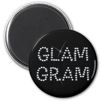 Glam Gram Refrigerator Magnet