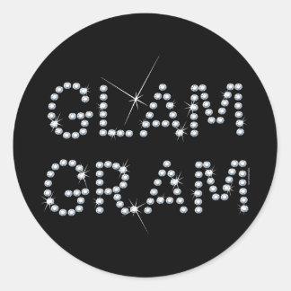 Glam Gram Classic Round Sticker