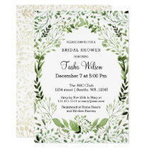 Glam Greenery Bridal Shower invitations