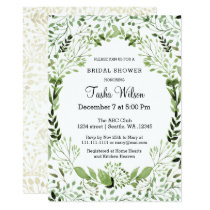 Glam Greenery Bridal Shower invitations