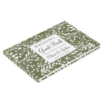 Glam Greenery wedding Guest Book