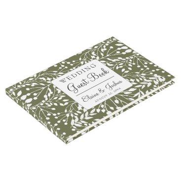 Glam Greenery wedding Guest Book