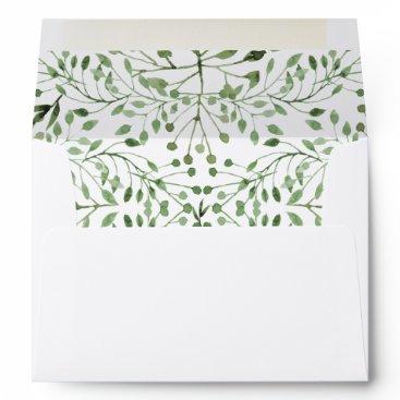 Glam Greenery wedding invitations envelopes