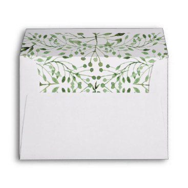 Glam Greenery wedding invitations envelopes
