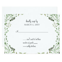 Glam Greenery wedding invitations rsvp