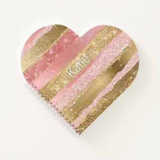 Glam Heart Custom Notebook