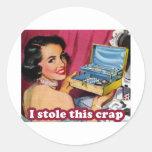 Glam Kleptomania Classic Round Sticker