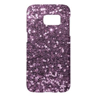 Glam Lavender Purple Faux Glitter Print Samsung Galaxy S7 Case