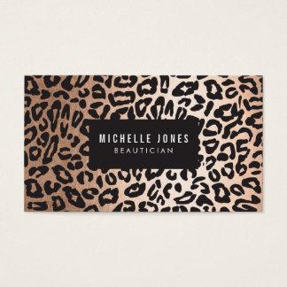 Glam Leopard Print Stylist Salon Business Cards