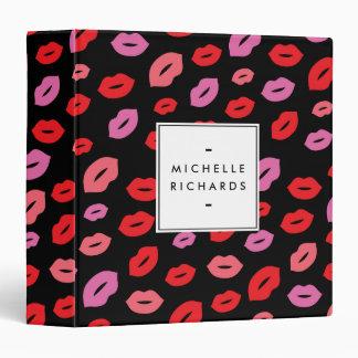 Glam Lip Print II Binder