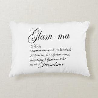 GLAM MA grandma definition Accent Pillow
