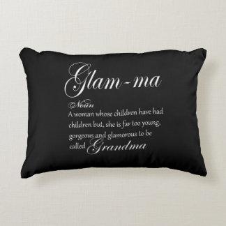 GLAM MA grandma definition Decorative Pillow