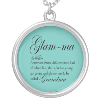 GLAM MA grandma definition Silver Plated Necklace