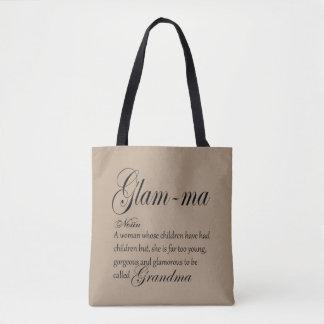 GLAM MA grandma definition Tote Bag