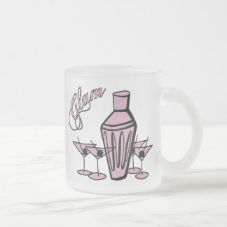 Glam Martini Mix - Pink Frosted Glass Coffee Mug