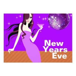 Glam New Years Eve Party - little cocktail dress Card