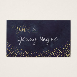 Glam night faux gold glitter place cards