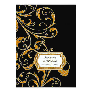 Glam Old Hollywood Regency Black Tie Event Style Card