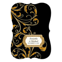 Glam Old Hollywood Regency Black Tie Event Style Invite (<em>$2.47</em>)