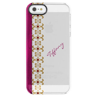 Glam Orchid and Gold Jewel Look iPhone 5S Case Uncommon Clearly™ Deflector iPhone 5 Case