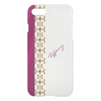 Glam Orchid and Gold Jewel Look iPhone 7 Case