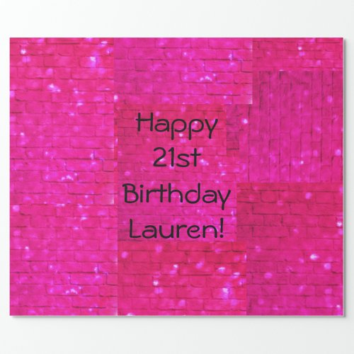 Glam Party Personalize Wrapping Paper