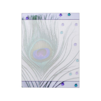 Glam Peacock Feather Purple Notepad