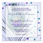 Glam Peacock Feather Purple Wedding Invitation