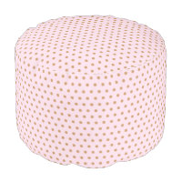 Glam Pink with Dark Gold Dots Pouf