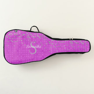 Glam Pink with Faux Rhinestones Guitar Case