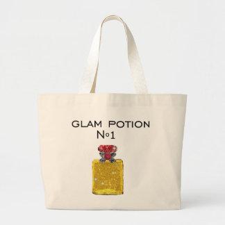 Glam potion tote bag bolsa tela grande