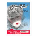 Glam R Girl Postcard