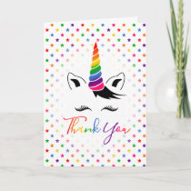 Glam Rainbow Unicorn Thank You