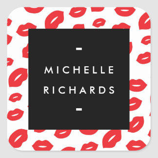 Glam Red Lip Print Sticker