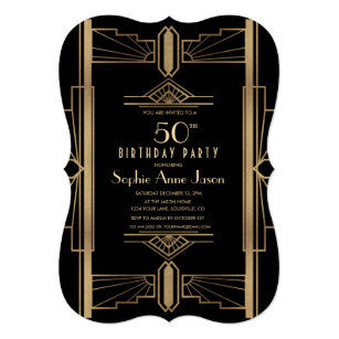 Great Gatsby Invitations Zazzle