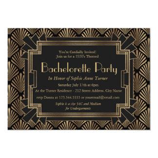 Glam Roaring 20's Great Gatsby Bachelorette Party Invitation