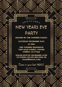 glam roaring 20s great gatsby new year party invitation zazzlecom