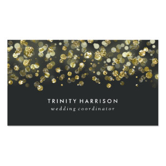 Glam Sequins | Chic Faux Gold Foil Business Card
