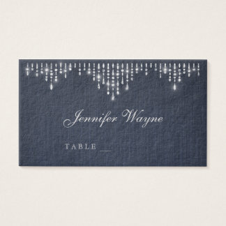 Glam silver art deco vintage wedding place cards