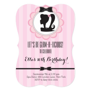Girls spa party invitations announcements zazzle glam spa birthday party invitation filmwisefo Gallery