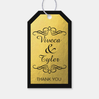 Glam Swirly Flourish Gold Foil Thank You Pack Of Gift Tags
