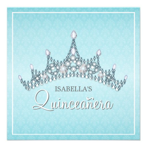 Glam Tiara Quinceanera Celebration Invitation