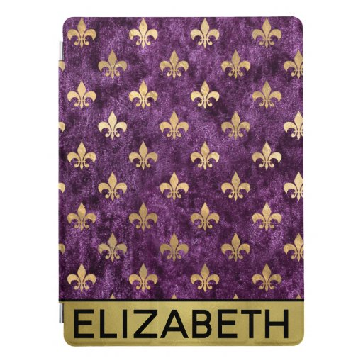 Glam Velvet Purple Le Fleur Personalized iPad Pro Cover