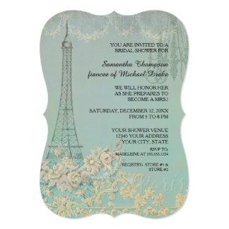 Glam Vintage Paris Parisian Stylish Bridal Shower Card