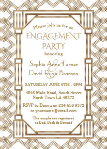 Gatsby Engagement Party Invitations
