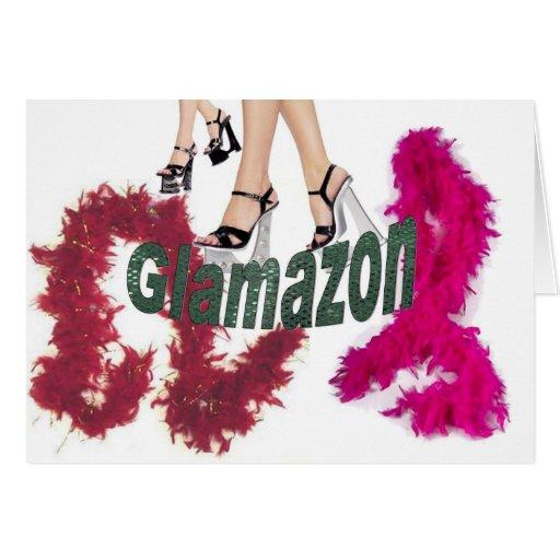 Glamazon Greeting Card