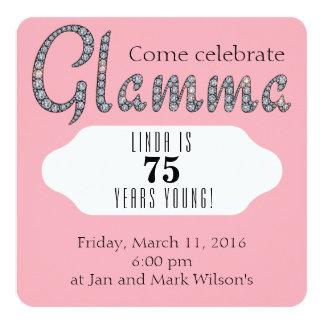 Glamma bling custom invitation