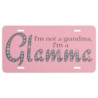 Glamma bling license plate