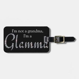 Glamma bling luggage tag