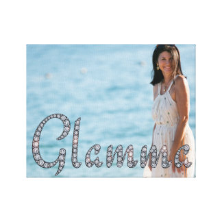 Glamma bling photo wrapped canvas